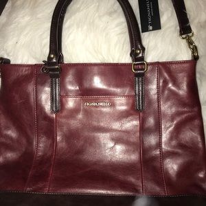 Tignanello Merlot Leather NWT Gorgeous 💼 Bag